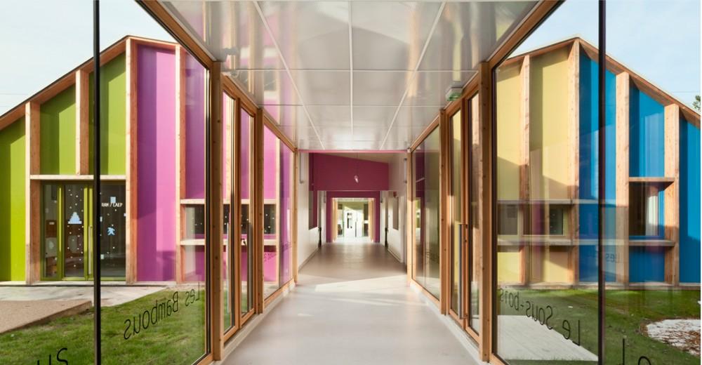 幼儿园设计案例; 色彩--托儿所法国;